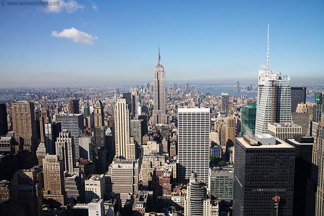 Rockfellor center views towards Lower Manhattan